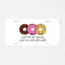 I love donuts! Aluminum License Plate