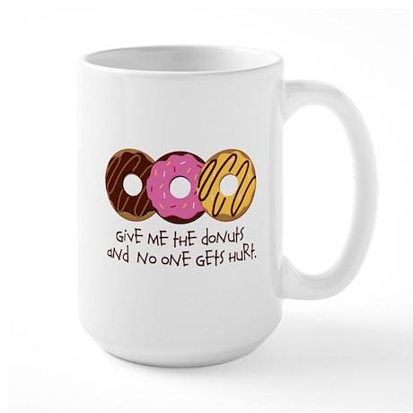 I love donuts! Large Mug