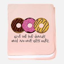 I love donuts! baby blanket