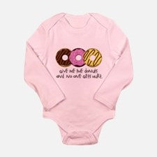 I love donuts! Long Sleeve Infant Bodysuit
