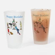 Birthday Party Barbecue Drinking Glass