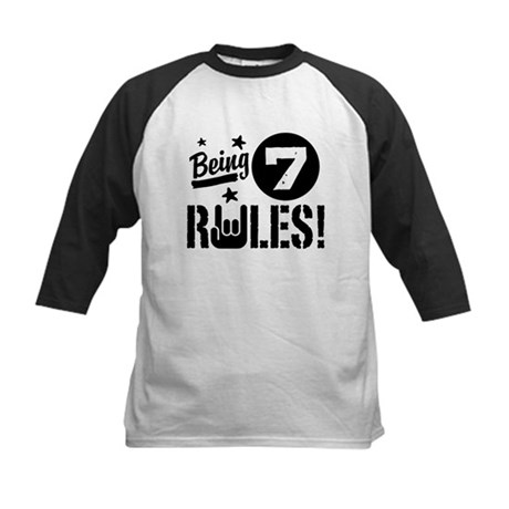 7th Birthday Kids Baseball Jersey
