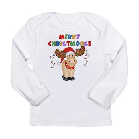Merry Christmoose Long Sleeve Infant T-Shirt