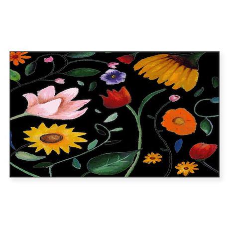 FLOWERS Sticker (Rectangle)