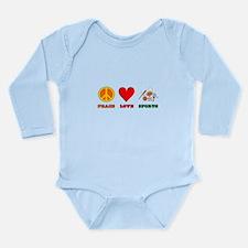 Peace Love Sports Long Sleeve Infant Bodysuit