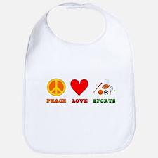 Peace Love Sports Bib