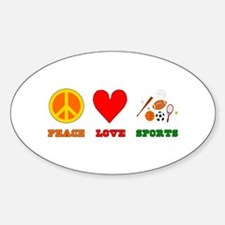 Peace Love Sports Decal