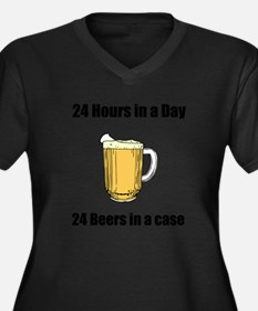 24 hours in a day 24 beers in a case Women's Plus