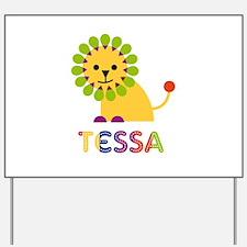Tessa the Lion Yard Sign