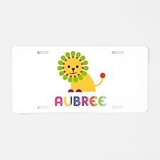 Aubree the Lion Aluminum License Plate