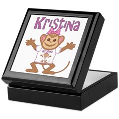 Little Monkey Kristina Keepsake Box