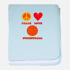 Peace Love Streetball baby blanket