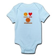 Peace Love Streetball Infant Bodysuit