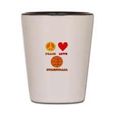 Peace Love Streetball Shot Glass