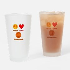 Peace Love Streetball Drinking Glass