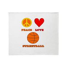 Peace Love Streetball Throw Blanket