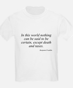 Benjamin Franklin quote 93 Kids T-Shirt
