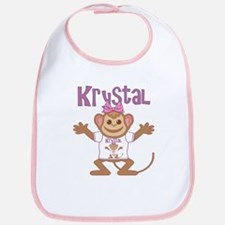 Little Monkey Krystal Bib