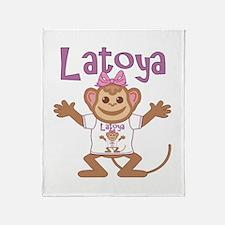 Little Monkey Latoya Throw Blanket