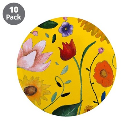 "FLOWERS 3.5"" Button (10 pack)"