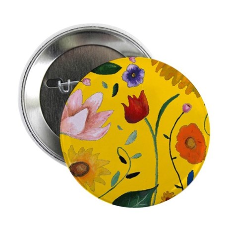 """FLOWERS 2.25"""" Button (100 pack)"""