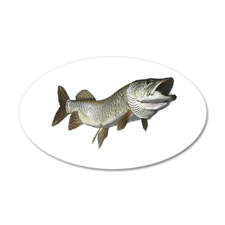 Musky,5 38.5 x 24.5 Oval Wall Peel