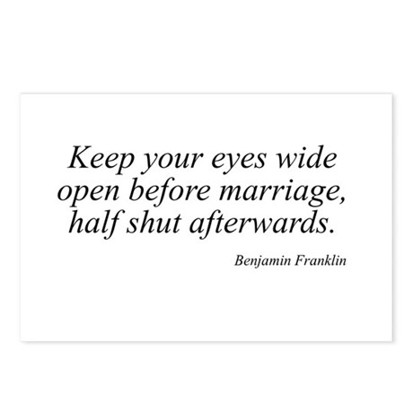 Benjamin Franklin quote 102 Postcards (Package of