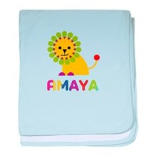 Amaya the Lion baby blanket