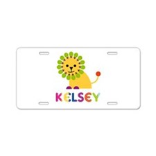 Kelsey the Lion Aluminum License Plate