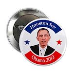 Houston for Obama 2012 political button