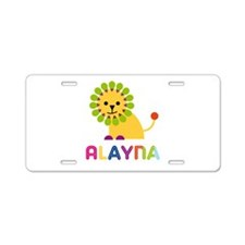 Alayna the Lion Aluminum License Plate