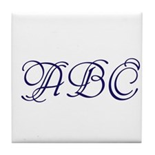 Monogram Tile Coaster