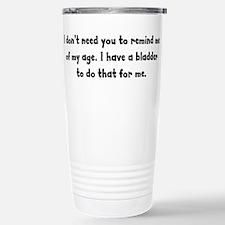 The Bladder Gives it Away Travel Mug