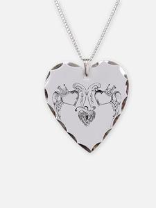 DOUBLE HEART LOCKET TATTOO Necklace