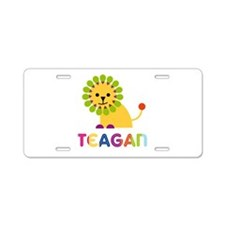 Teagan the Lion Aluminum License Plate