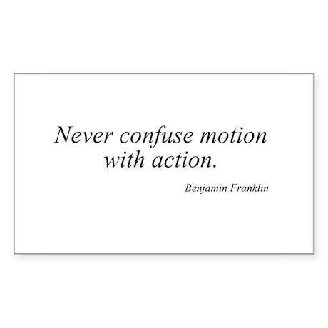 Benjamin Franklin quote 118 Rectangle Sticker