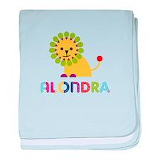 Alondra the Lion baby blanket