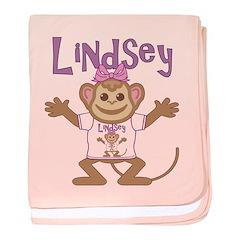 Little Monkey Lindsey baby blanket