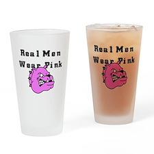 REAL MEN WEAR PINK Drinking Glass