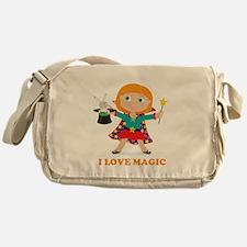 Girl Magician Messenger Bag