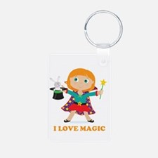 Girl Magician Keychains