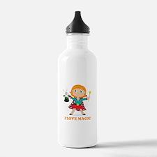 Girl Magician Water Bottle