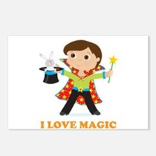 Boy Magician Postcards (Package of 8)