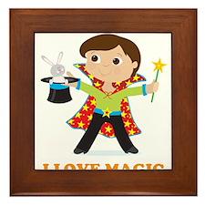 Boy Magician Framed Tile