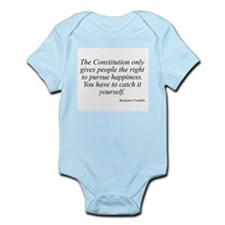 Benjamin Franklin quote 137 Infant Creeper