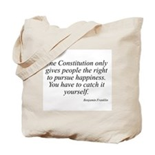 Benjamin Franklin quote 137 Tote Bag