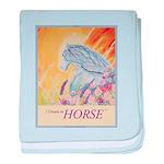 """I Dream in Horse"" baby blanket"