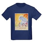 """I Dream in Horse"" Kids Dark T-Shirt"