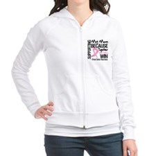Support Mom Breast Cancer Fitted Hoodie