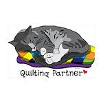 Quilting Partner 38.5 x 24.5 Wall Peel